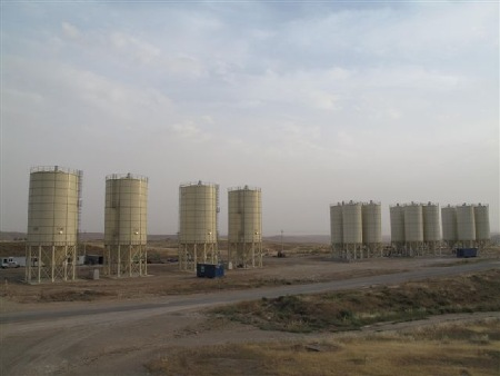 Finished installation, 16 silos in total.